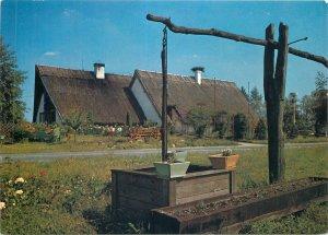 Postcard Slovakia holice charda tavern kondorosh rural street view