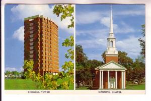 Twoview, Crowell Tower, Manning Chapel, Acadia University, Wolfville, Nova Sc...