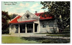1911 Pavilion, Loring Park, Minneapolis, MN Postcard