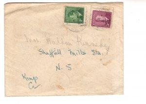 Canadian George VI Stamps Reused Nova Scotia 1952 Cover,