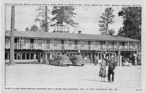 Bryce Canyon Park Utah Rubys Inn Antique Postcard J53261