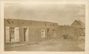 Sod House~Windows w/Shutters~Barrels~Barn~Real Photo Postcard c1913