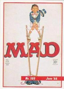 Lime Rock Trade Card Mad Magazine Cover Issue No 103 June 1966