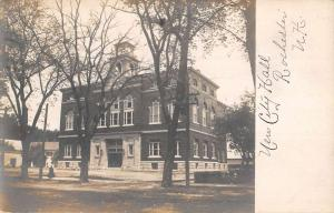 Rochester New Hampshire New City Hall Real Photo Antique Postcard K100286