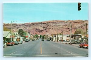 Postcard UT Moab 1960's View Main Street Business District Old Cars J5