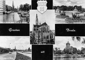 Netherlands Groeten uit Breda Grote Kerk, Wilhelminapark met Watertoren