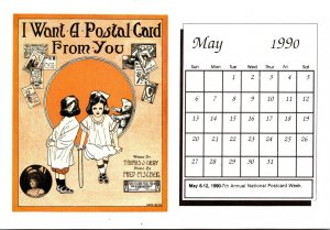 1990 Sheet Music Calendar Series May I Want A Postal Card From You