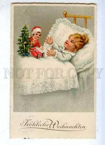 185404 NEW YEAR Doll Toy Vintage GERMANY POST FRUHZEITIG