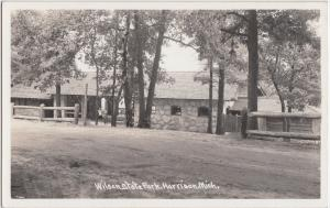 Michigan Mich RPPC Real Photo Postcard c1940s HARRISON Wilson State Park Shelter