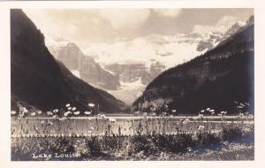 RP; General View of Lake Louise and background mountain range, Alberta, 10-20s