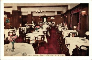 Postcard NY New York NYC Hotel Park Central Grill Room Dining Interior Unposted