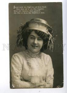 149254 Fashion MODE 1909 Lady ART NOUVEAU HAT vegetables PHOTO
