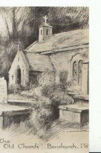 Isle of Wight Postcard - The Old Church - Bonchurch - Ref 16243A