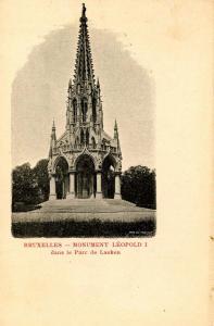 Belgium - Brussells. Leopold I Monument in Lake Park