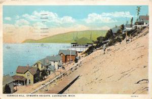 F14/ Ludington Michigan Postcard 1928 Terrace Hill Epworth Heights  Cottages