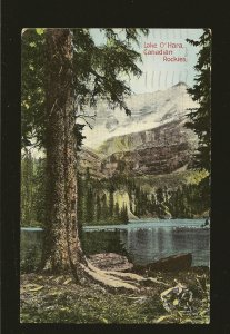 Postmarked 1937 Banff Alberta Lake O'Hara Canadian Rockies Postcard
