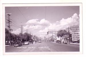 Real Photo Portage Avenue, Royal Tires, HBC, Boyd Building, Winnipeg, Manitoba