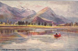 TUCK # 7609 , INTERLAKEN Series, Switzerland , The Lake of Brienz , 00-10s