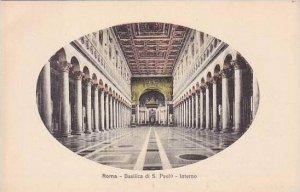 Italy Roma Rome Basilica di S Paolo Interno