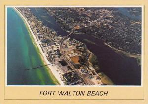 Florida Fort Walton Beach Aerial Panoramic View Looking West