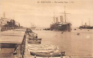 Egypt  Port-Said-  The Landing Stage,  L'Embarcadere