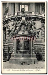 Old Postcard Paris Monument of Charles Garnier The Opera
