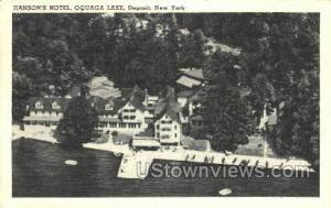 Hanson's Hotel Oquaga Lake NY Unused