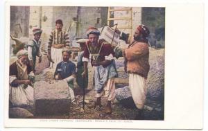 St Louis MO World's Exposition Arab Stone Cutters Jerusalem Postcard