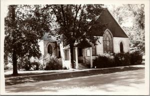 Central Lake Michigan~Methodist Church~Springs Trees~1960s Real Photo~RPPC