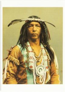Arrowmaker Ojibwe Ojibwa Brave in 1903 Native American Modern Postcard