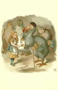 Dodo in Alice In Wonderland 1890 Victorian Book Postcard