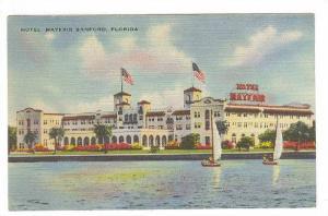 Hotel Mayfair, Sailboats,  Sanford, Florida, 30-40s