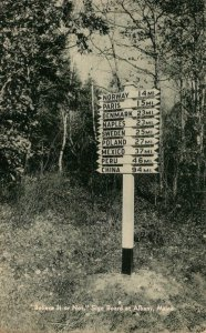 Maine Albany Believe It Or Not Sign Board1943
