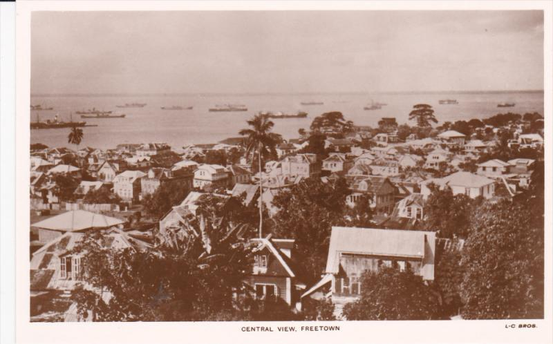 RP, Central View, Homes, Ships, SIERRA LEONE, 1920-1940s