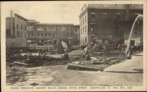 Montpelier VT 1927 Flood Damage VINTAGE EXC COND Postcard #20