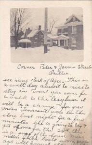 RP: Corner of Peter & Jarvis Streets in Winter , ORILLIA , Ontario , Canada ,...