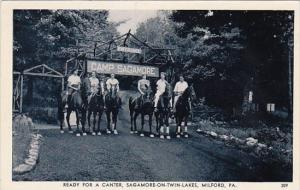Horseback Riders Ready For A Canter Sagamore-On-Twin-Lakes Milford Pennsylvan...