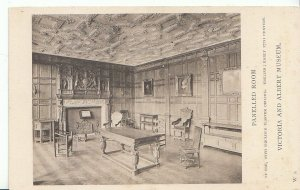 Museum Postcard - Panelled Room - Of Oak - With Moulded Plaster Ceiling  ZZ894