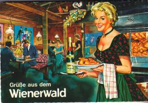 Wienerweald Restaurant - German Post Card