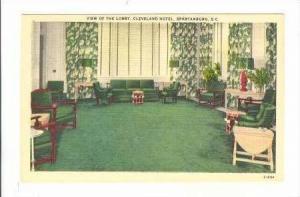 Lobby, Cleveland Hotel, Spartanburg, South Carolina, 30-40s