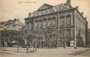 Liege Belgium~L'Hotel de Ville~City Hall on Market Square 1940 B&W