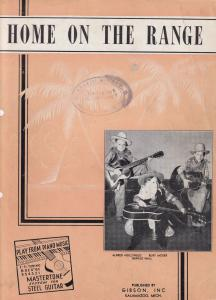Home On The Range Learn Gibson Guitar Old Sheet Music