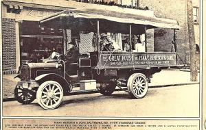 Baltimore MD Isaac Benesch & Sons 4-Ton Truck Chassis Zell Motors RPPC Postcard