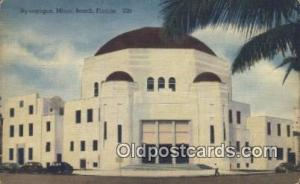 Synagogue Miami Beach, FL, USA Postcard Post Cards Old Vintage Antique Miami ...