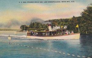 WHITE MOUNTAINS, New Hampshire, PU-1946; U.S. Mail Steamer Uncle Sam, Lake Wi...