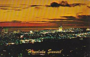 Hawaii Honolulu Honolulu Sunset Hawaiian Islands 1976