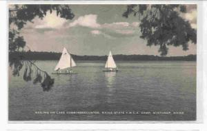 Sailing on lake Cobbosseecontee, Main State, Y.M.C.A. Camp, Winthrop, Maine 0...