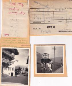 Kuzbuhel 1950s Photo Collection & 2x Receipt s