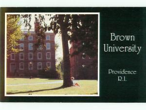 Vintage Post Card Greetings from Brown University Providence Student  RI # 4103