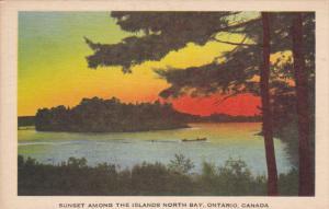 Sunset among the Islands North Bay, Ontario, Canada, PU-1951
